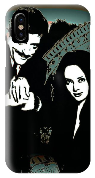 IPhone Case featuring the digital art Gomez And Morticia Addams by Joy McKenzie