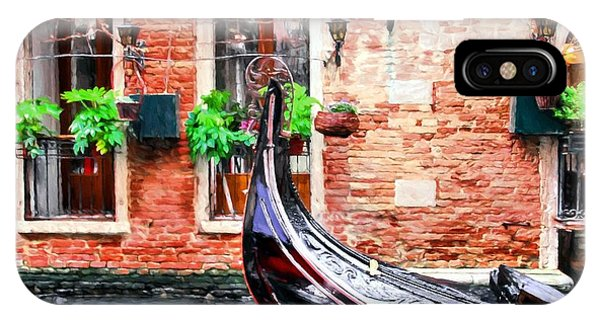Gondola In Venice IPhone Case