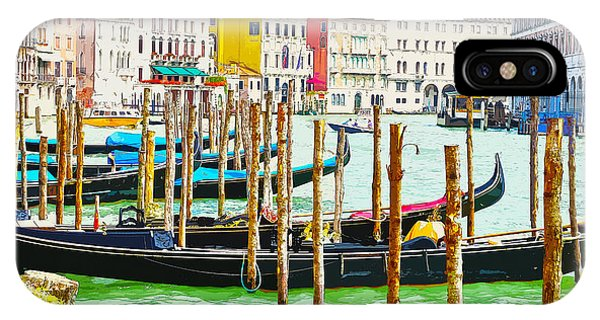 Gondolas On The Grand Canal Venice Italy IPhone Case