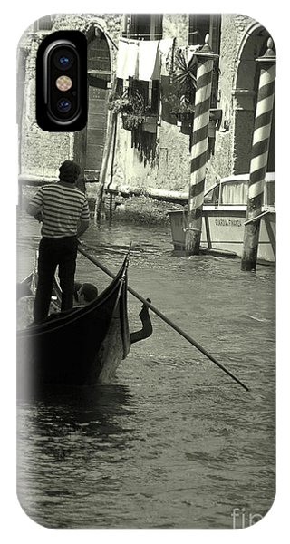 Gondolier In Venice   IPhone Case