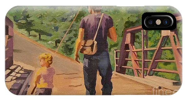 Gone Fishing With Dad IPhone Case