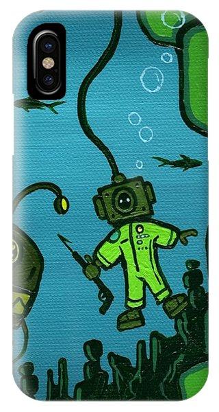 Scuba Diving iPhone Case - Gone Fish'n by Dan Keough