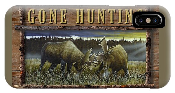 Gone Hunting - Locked At Lac Seul IPhone Case