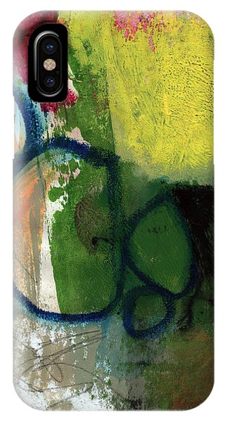Contemporary iPhone Case - Good Day-abstract Painting By Linda Woods by Linda Woods