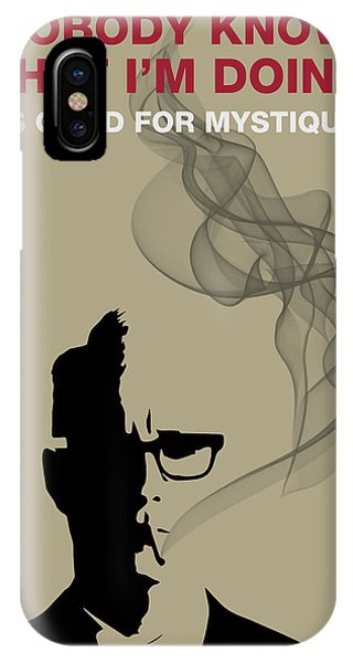 Good For Mystique - Mad Men Poster Roger Sterling Quote IPhone Case