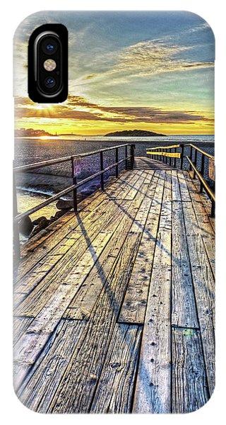 Good Harbor Beach Footbridge Shadows IPhone Case