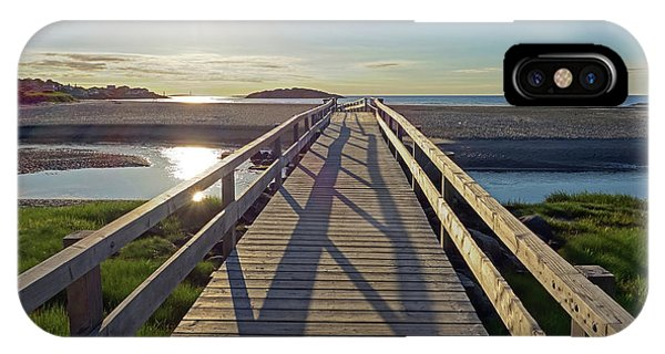 Good Harbor Beach Footbridge Sunny Shadow IPhone Case