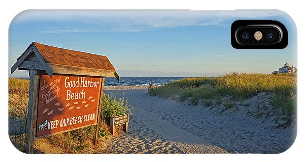 Good Harbor Sign At Sunset IPhone Case