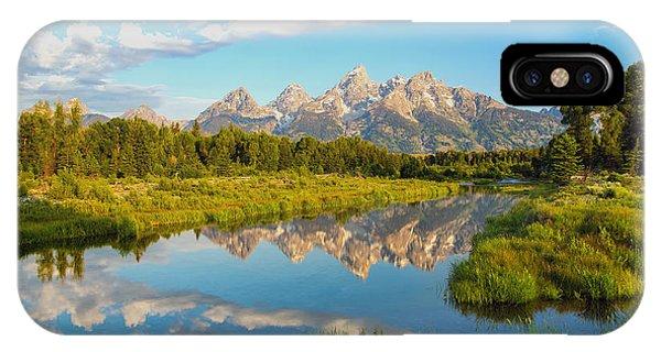 Teton iPhone Case - Good Morning Tetons by Robert Bynum