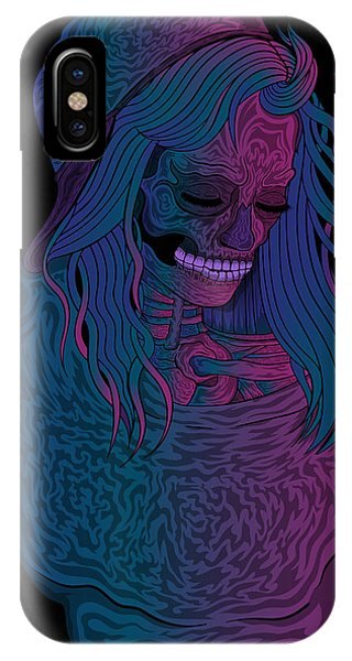 Good Vibes Skelegirl IPhone Case
