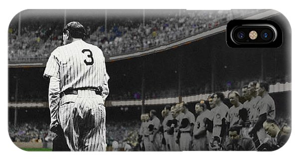 Baseball Hall Of Fame iPhone Case - Goodbye Babe Ruth Farewell by Tony Rubino
