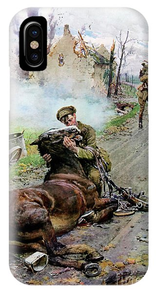 Wwi iPhone Case - Goodbye Old Man by Fortunino Matania