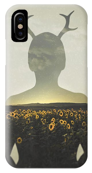 Sunflower iPhone Case - Goodbye Summer by Art of Invi