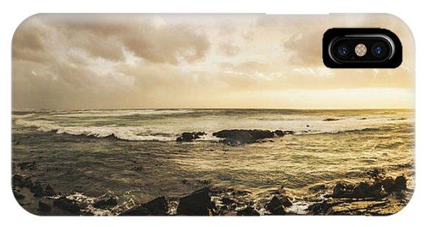 Stone Wall iPhone Case - Goodbye Sunshine by Jorgo Photography - Wall Art Gallery