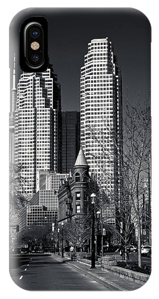 IPhone Case featuring the photograph Gooderham Flatiron Building And Toronto Downtown by Brian Carson