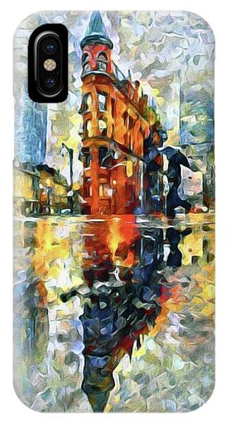 Gooderham Flatiron Building In The Rain IPhone Case