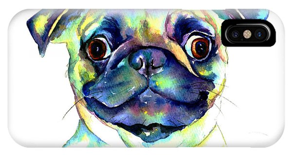 Google Eyed Pug IPhone Case