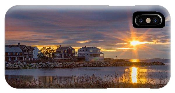 Goosefare Brook Sunrise - Saco Maine IPhone Case