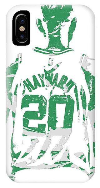 Celtics iPhone Case - Gordon Hayward Boston Celtics Pixel Art T Shirt 5 by Joe Hamilton