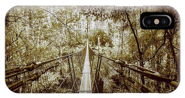 Construction iPhone Case - Gorge Swinging Bridges by Jorgo Photography - Wall Art Gallery