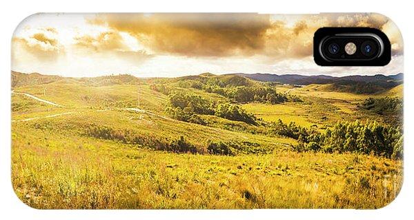 Beautiful Sunrise iPhone Case - Gorgeous Golden Sunset Field  by Jorgo Photography - Wall Art Gallery