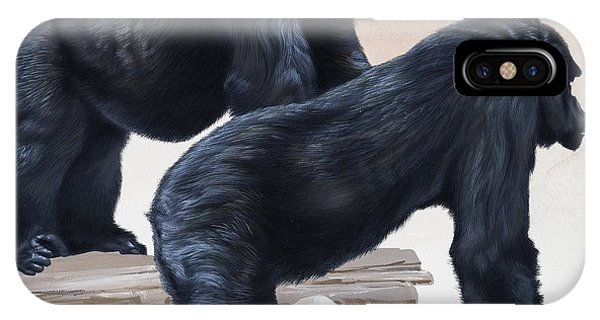 All In The Family iPhone Case - Gorillas by David Nockels
