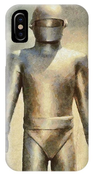Dracula iPhone Case - Gort From The Day The Earth Stood Still by Mary Bassett