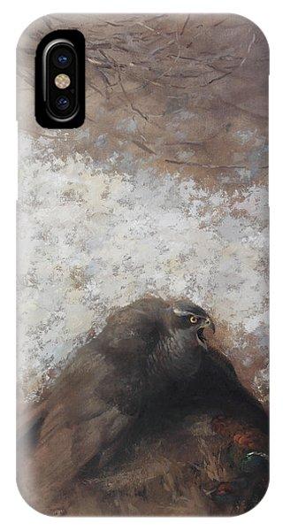 Goshawk And Pheasant IPhone Case