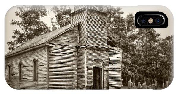 Cemetery iPhone Case - Gospel Center Church Iv by Tom Mc Nemar