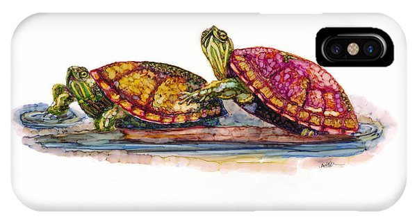 Spring Turtles IPhone Case
