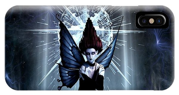 Blue Berry iPhone Case - Goth Fairy In Space by G Berry