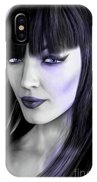 Goth Portrait Purple IPhone Case