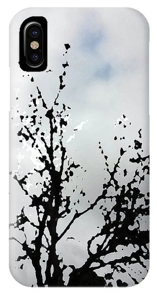 Goth Tree Clouded Sky IPhone Case