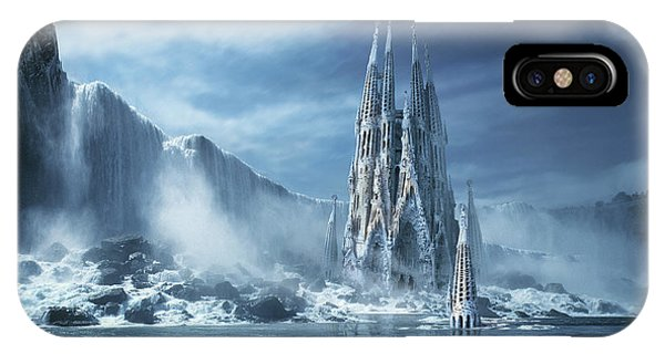 Freeze iPhone Case - Gothic Fantasy Or Expiatory Temple by George Grie