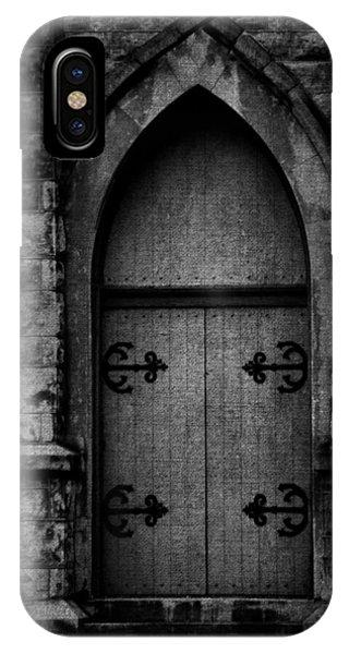 Gothic Door Memphis Church Bw IPhone Case