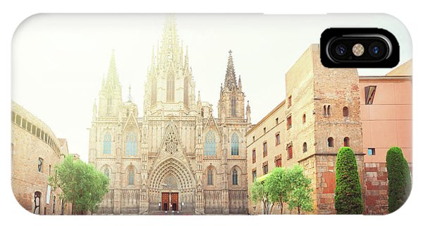 Gotic Cathedral  Of Barcelona IPhone Case