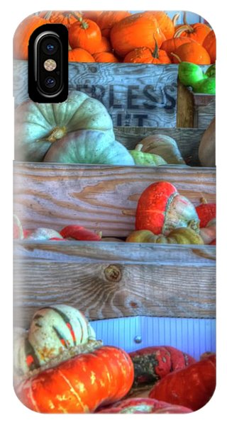IPhone Case featuring the photograph Gourds Of Autumn by Jerry Sodorff