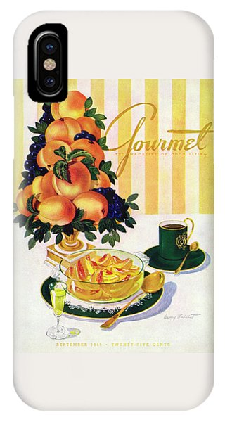 Magazine Cover iPhone Case - Gourmet Cover Featuring A Centerpiece Of Peaches by Henry Stahlhut