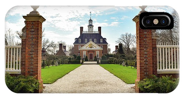 Governor's Palace In Williamsburg, Virginia IPhone Case