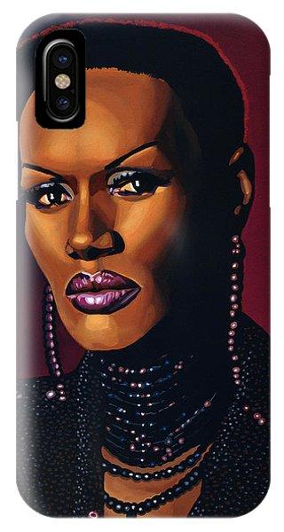 Slaves iPhone Case - Grace Jones by Paul Meijering