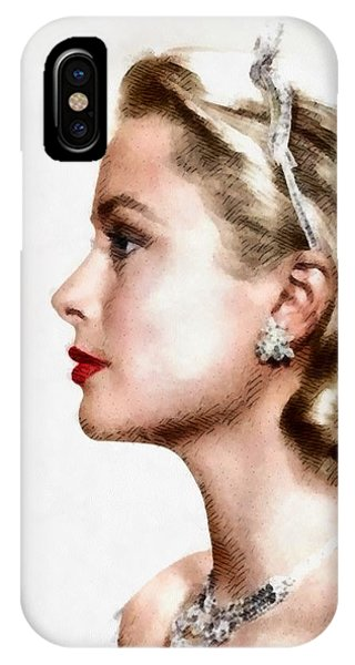 Grace Kelly iPhone Case - Grace Kelly, Actress And Princess by John Springfield