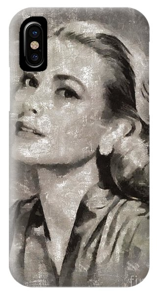 Grace Kelly By Mary Bassett IPhone Case