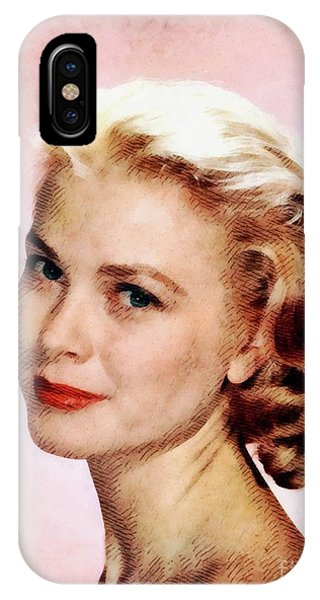 Grace Kelly iPhone Case - Grace Kelly, Vintage Actress by John Springfield