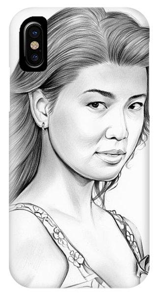 0 iPhone Case - Grace Park by Greg Joens