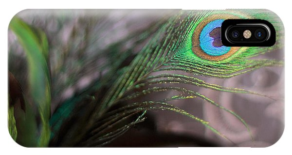 Graceful Peacock Feather IPhone Case