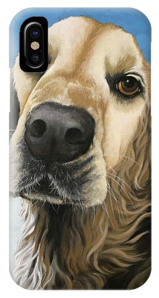 Gracie - Golden Retriever Dog Portrait IPhone Case