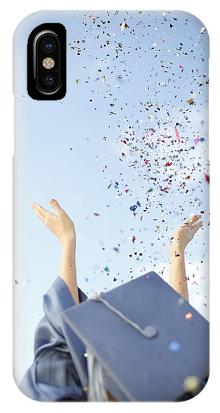Graduate Tossing Confetti Seen Phone Case by Gillham Studios