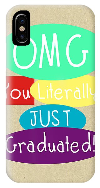 Students iPhone Case - Graduation Card by Linda Woods