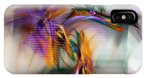 Contemporary Abstract iPhone Case - Graffiti - Fractal Art by NirvanaBlues