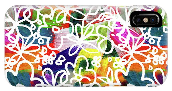 Graffiti Garden 2- Art By Linda Woods IPhone Case